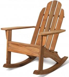 Arthur Lauer teak adirondack rocking chair