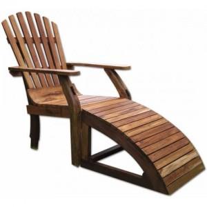 Teak Adirondack Chaise Lounge Chair GroovyStuff